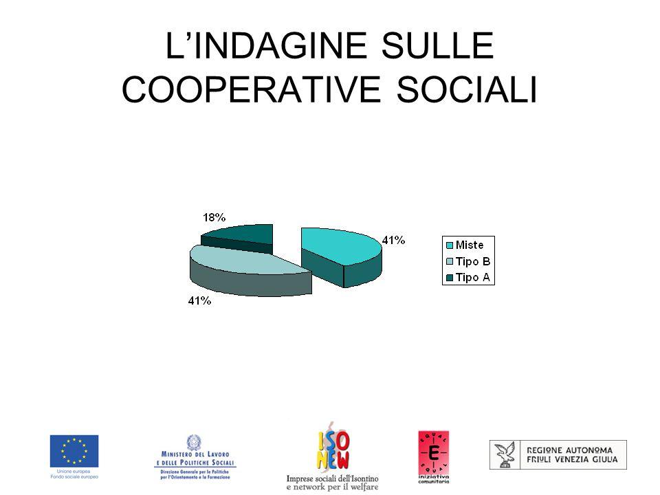 L'INDAGINE SULLE COOPERATIVE SOCIALI