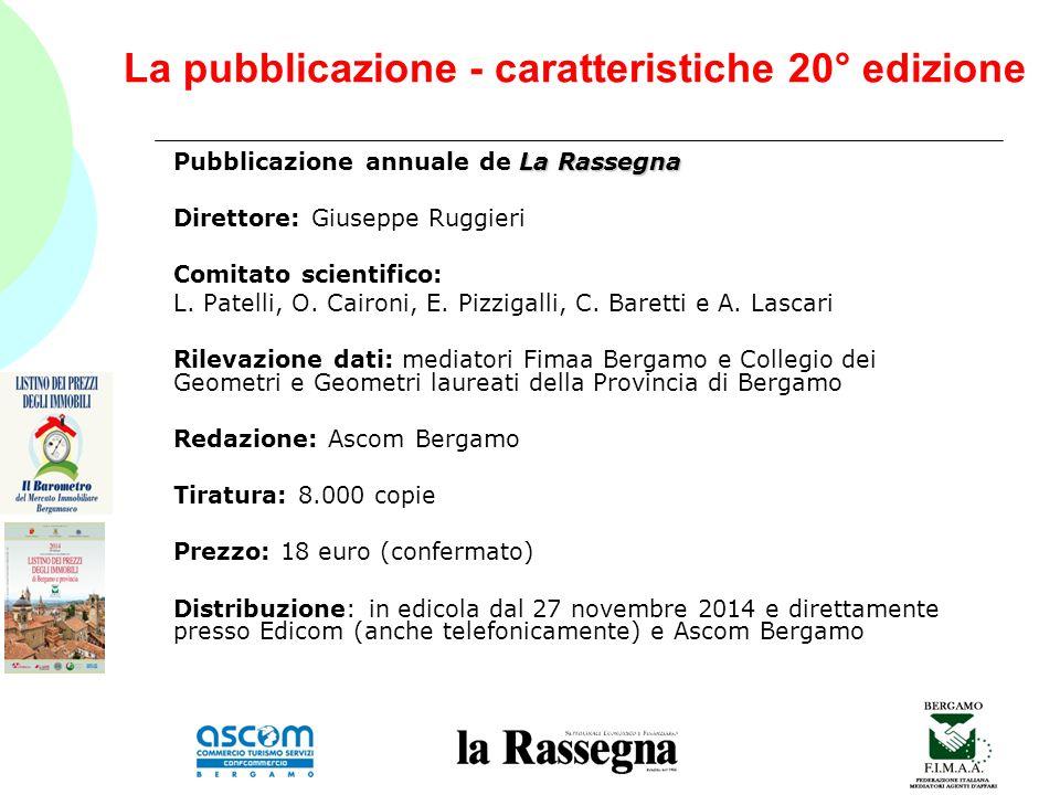 La pubblicazione - caratteristiche 20° edizione La Rassegna Pubblicazione annuale de La Rassegna Direttore: Giuseppe Ruggieri Comitato scientifico: L.
