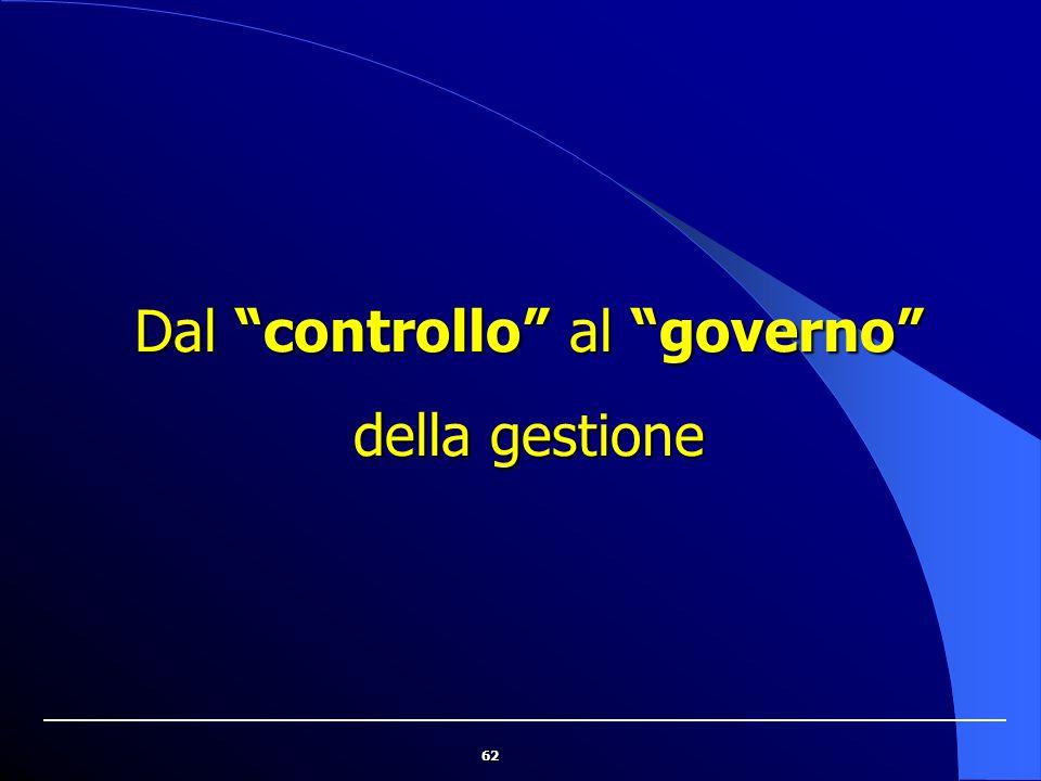 """62 Dal """"controllo"""" al """"governo"""" della gestione"""