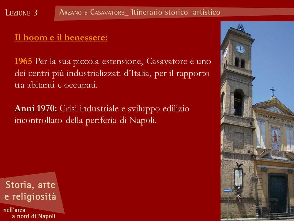 Il boom e il benessere: 1965 Per la sua piccola estensione, Casavatore è uno dei centri più industrializzati d'Italia, per il rapporto tra abitanti e