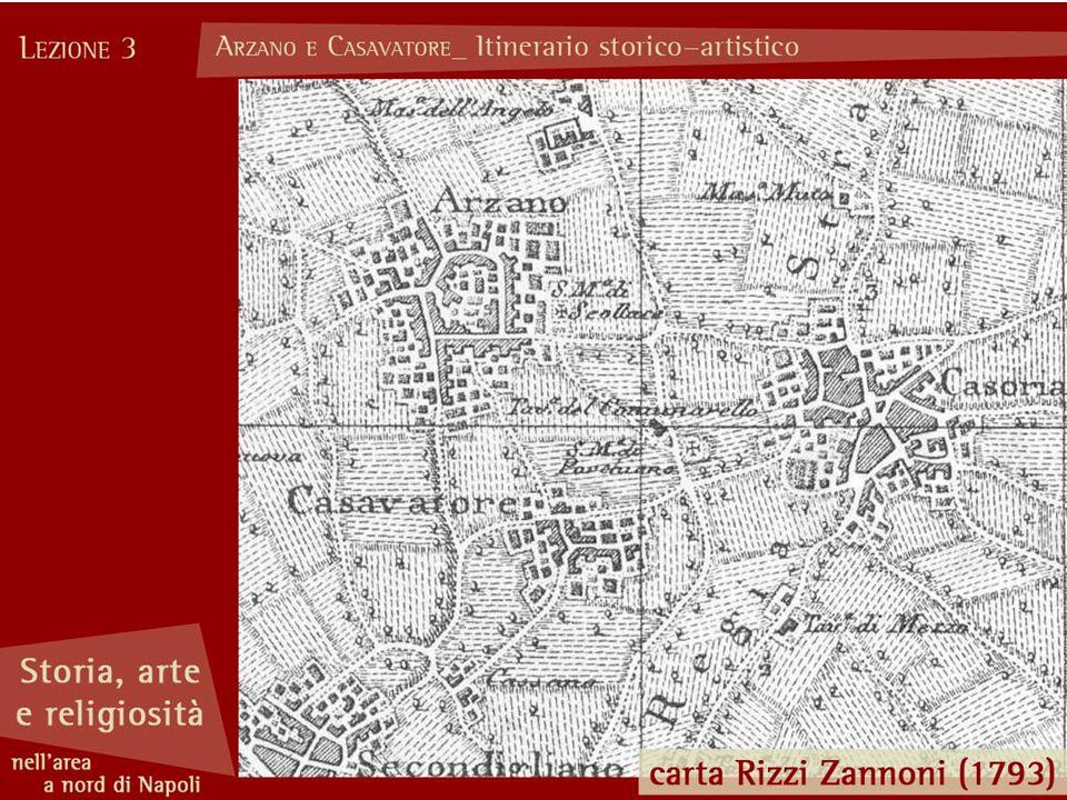 Il villaggio di Casavatore si è sviluppato intorno alla chiesa di San Giovanni Battista, (la strada è un antico decumano di epoca romana).