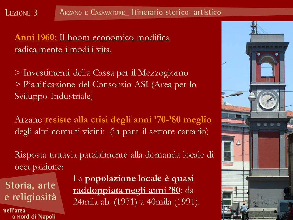 Anni 1960: Il boom economico modifica radicalmente i modi i vita. > Investimenti della Cassa per il Mezzogiorno > Pianificazione del Consorzio ASI (Ar