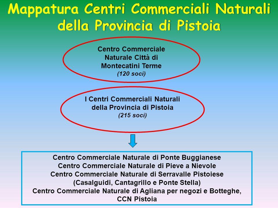 Centri Commerciali Naturali della Provincia di Pistoia Mappatura Centri Commerciali Naturali della Provincia di Pistoia Centro Commerciale Naturale di