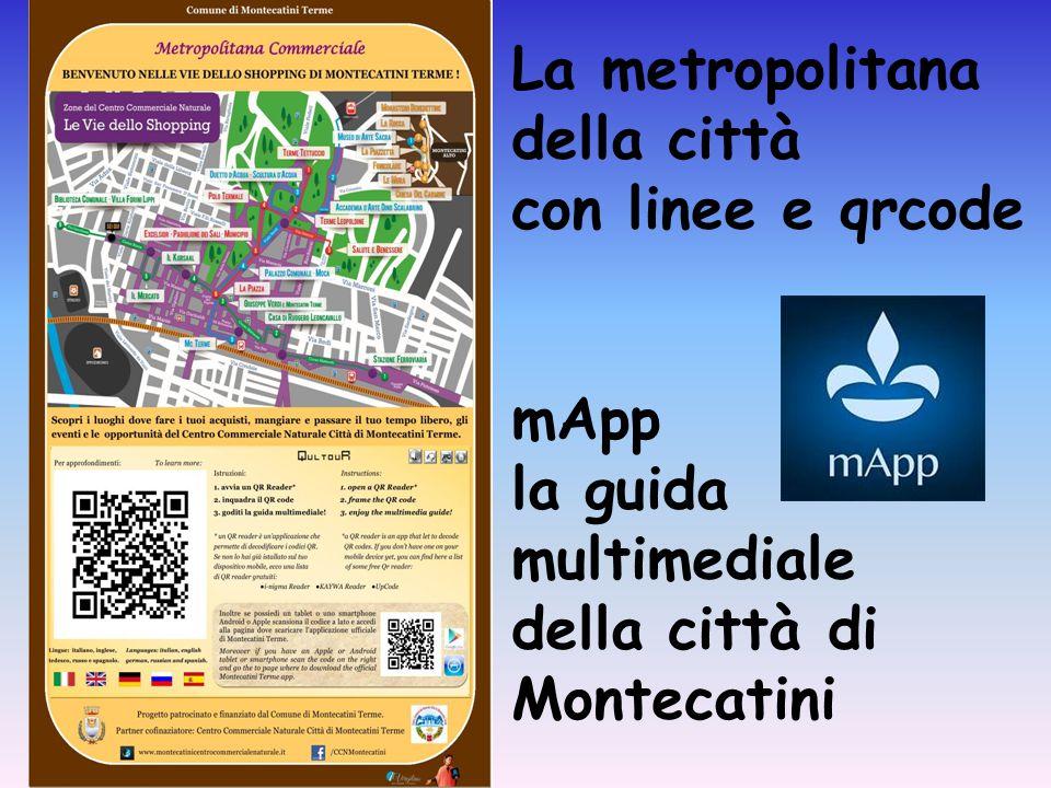 La metropolitana della città con linee e qrcode mApp la guida multimediale della città di Montecatini