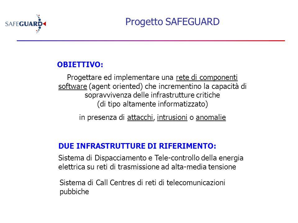 Progetto SAFEGUARD Progettare ed implementare una rete di componenti software (agent oriented) che incrementino la capacità di sopravvivenza delle inf