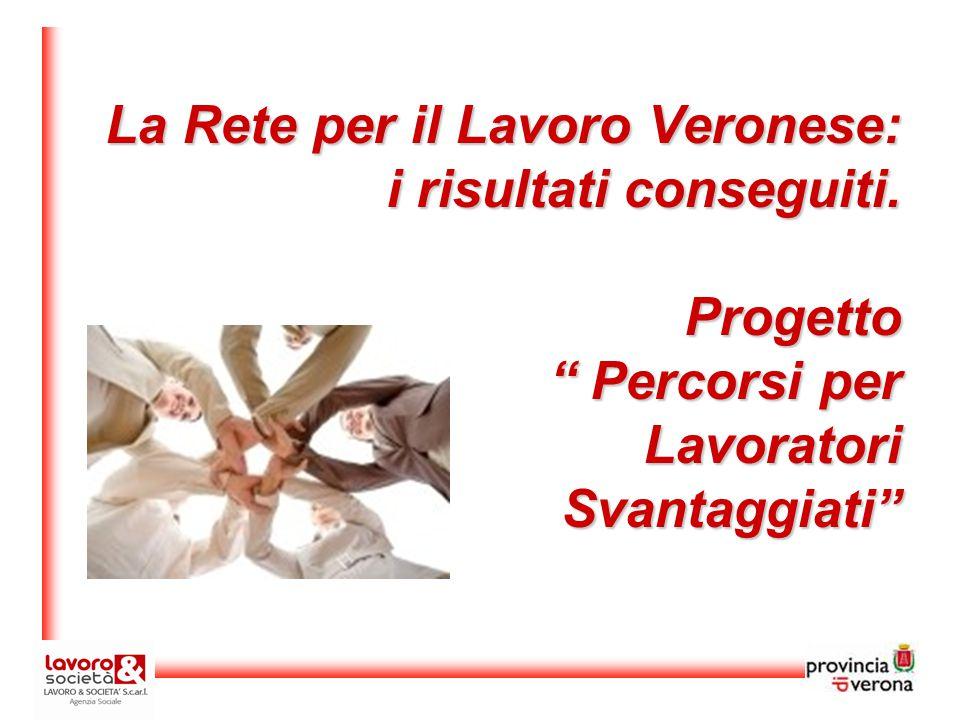 La Rete per il Lavoro Veronese: i risultati conseguiti.