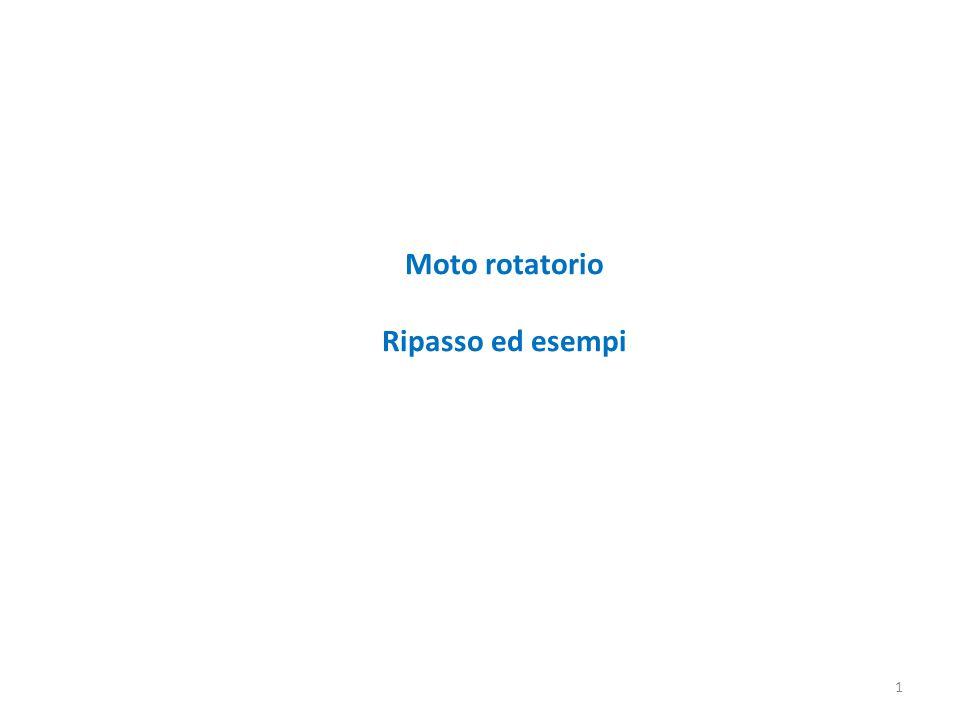 Moto rotatorio Ripasso ed esempi 1