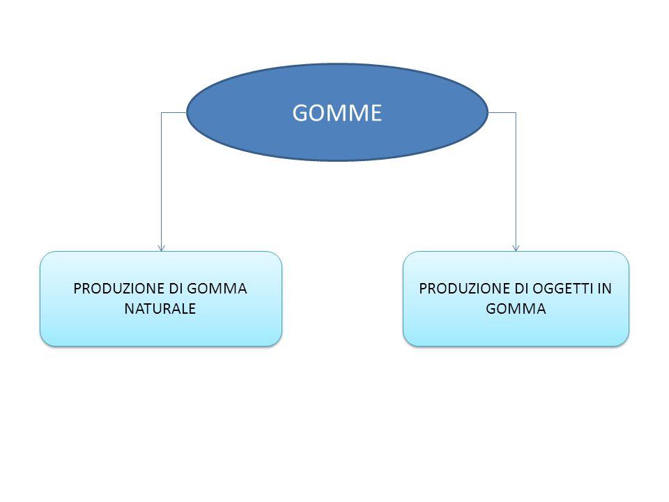 GOMME PRODUZIONE DI OGGETTI IN GOMMA PRODUZIONE DI GOMMA NATURALE