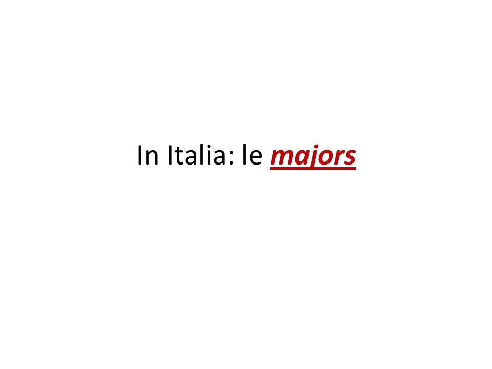 In Italia: le majors