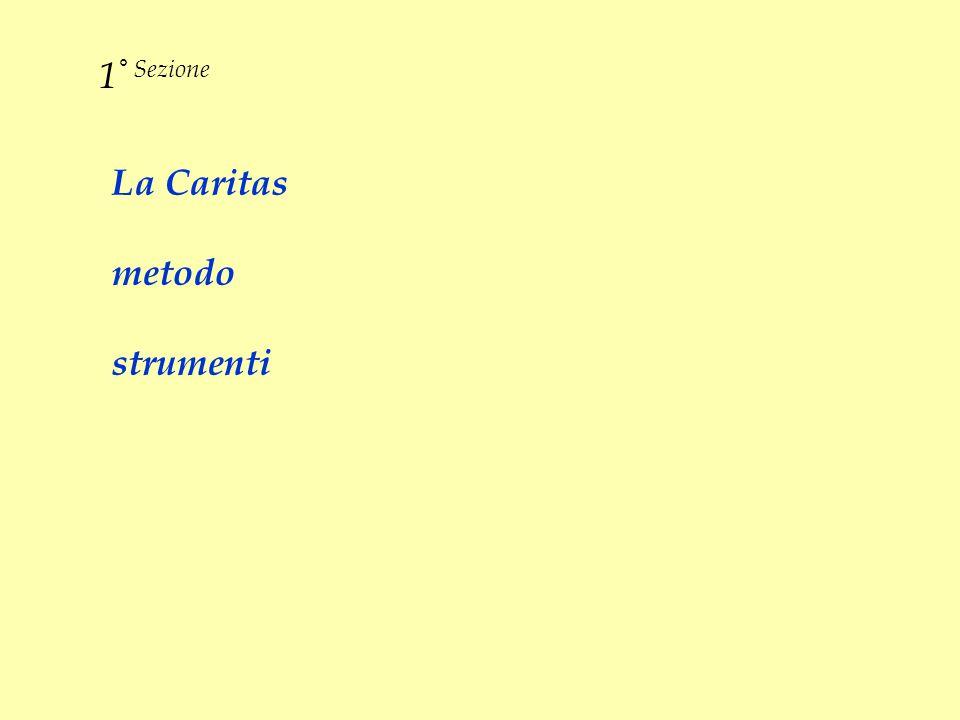 La Caritas metodo strumenti 1 ° Sezione