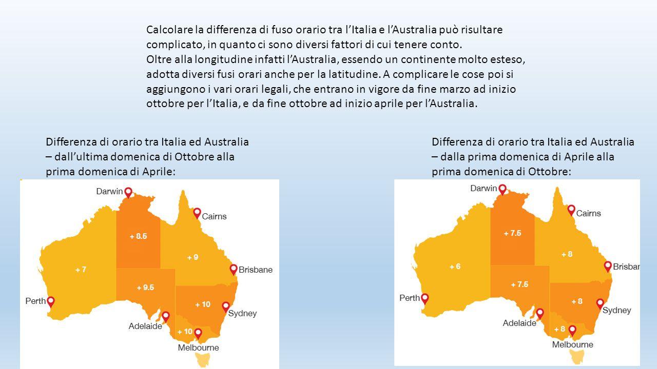 Calcolare la differenza di fuso orario tra l'Italia e l'Australia può risultare complicato, in quanto ci sono diversi fattori di cui tenere conto. Olt