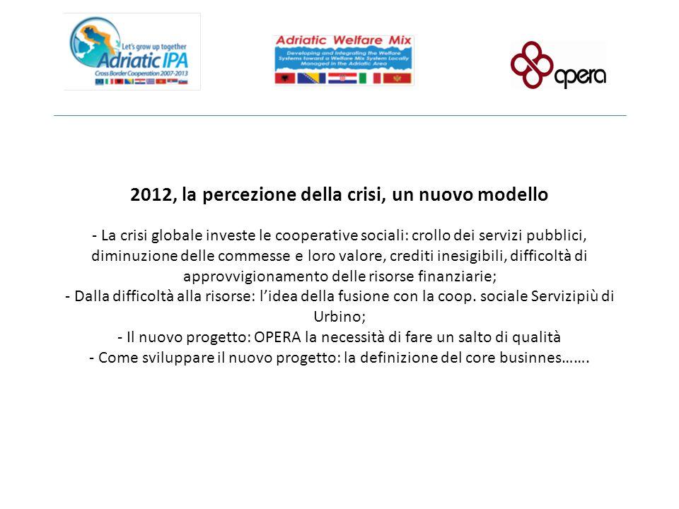 2012, la percezione della crisi, un nuovo modello - La crisi globale investe le cooperative sociali: crollo dei servizi pubblici, diminuzione delle co