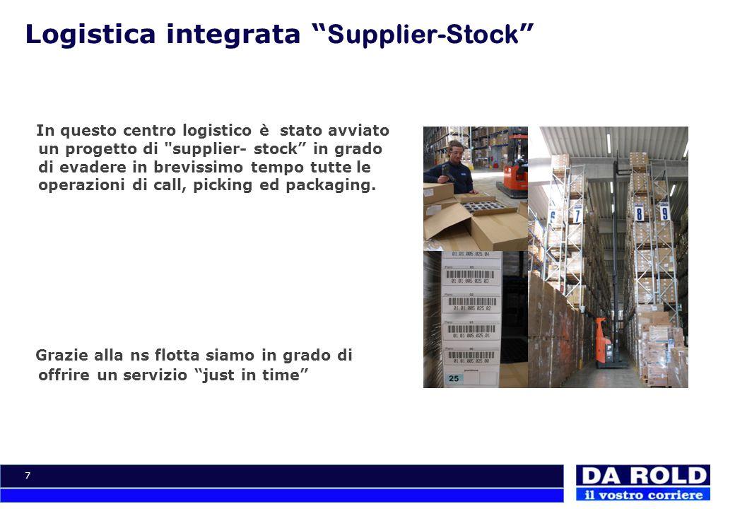 """7 Logistica integrata """" Supplier-Stock """" In questo centro logistico è stato avviato un progetto di"""