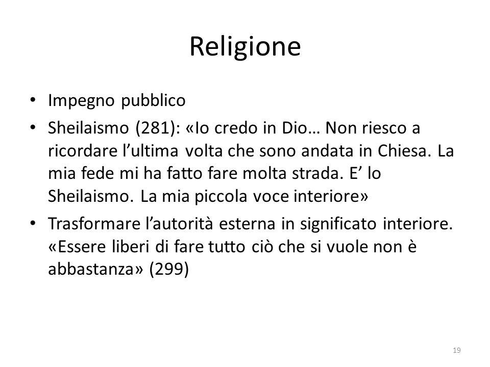 Religione Impegno pubblico Sheilaismo (281): «Io credo in Dio… Non riesco a ricordare l'ultima volta che sono andata in Chiesa. La mia fede mi ha fatt