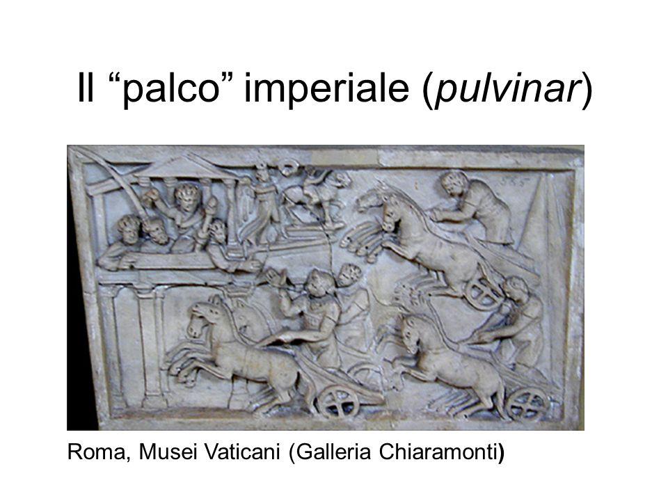 """Il """"palco"""" imperiale (pulvinar) Roma, Musei Vaticani (Galleria Chiaramonti)"""