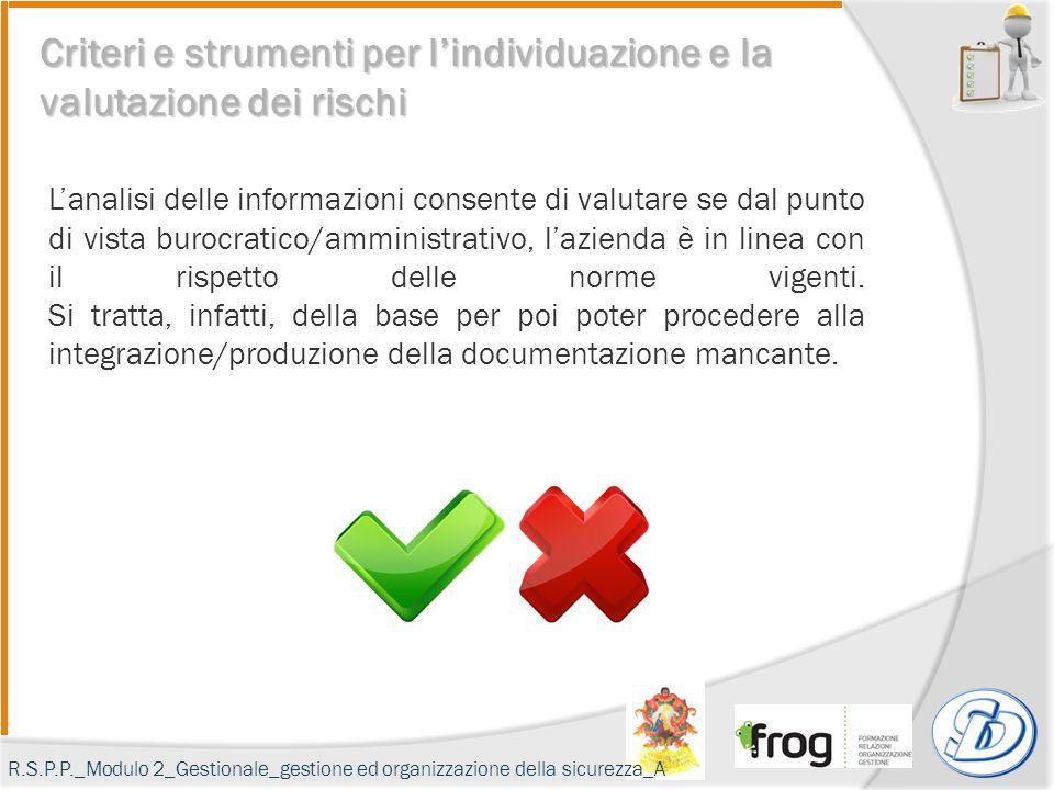 L'analisi delle informazioni consente di valutare se dal punto di vista burocratico/amministrativo, l'azienda è in linea con il rispetto delle norme v