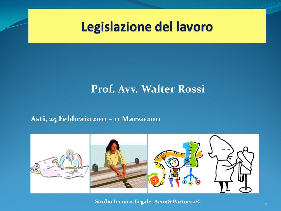 Prof. Avv. Walter Rossi Asti, 25 Febbraio 2011 – 11 Marzo 2011 Studio Tecnico-Legale_Aeon& Partners © 1