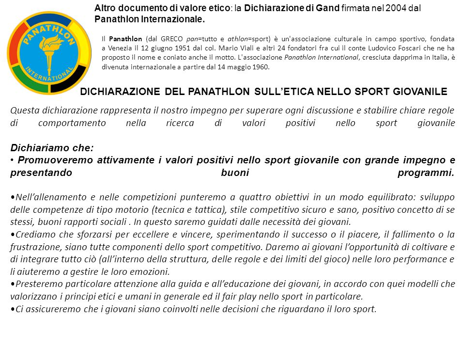 Continueremo nel nostro impegno per eliminare nello sport giovanile tutte le forme di discriminazione.