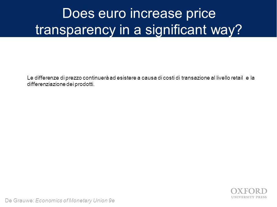 De Grauwe: Economics of Monetary Union 9e Eliminando i tassi di cambio tra i membri del sindacato, una monetaria unione elimina un importante fonte di rischio, vale a dire il rischio di cambio.