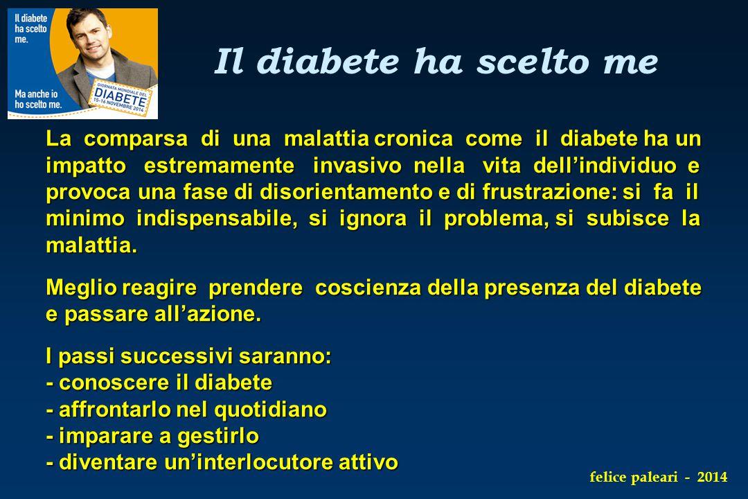 La comparsa di una malattia cronica come il diabete ha un impatto estremamente invasivo nella vita dell'individuo e provoca una fase di disorientament