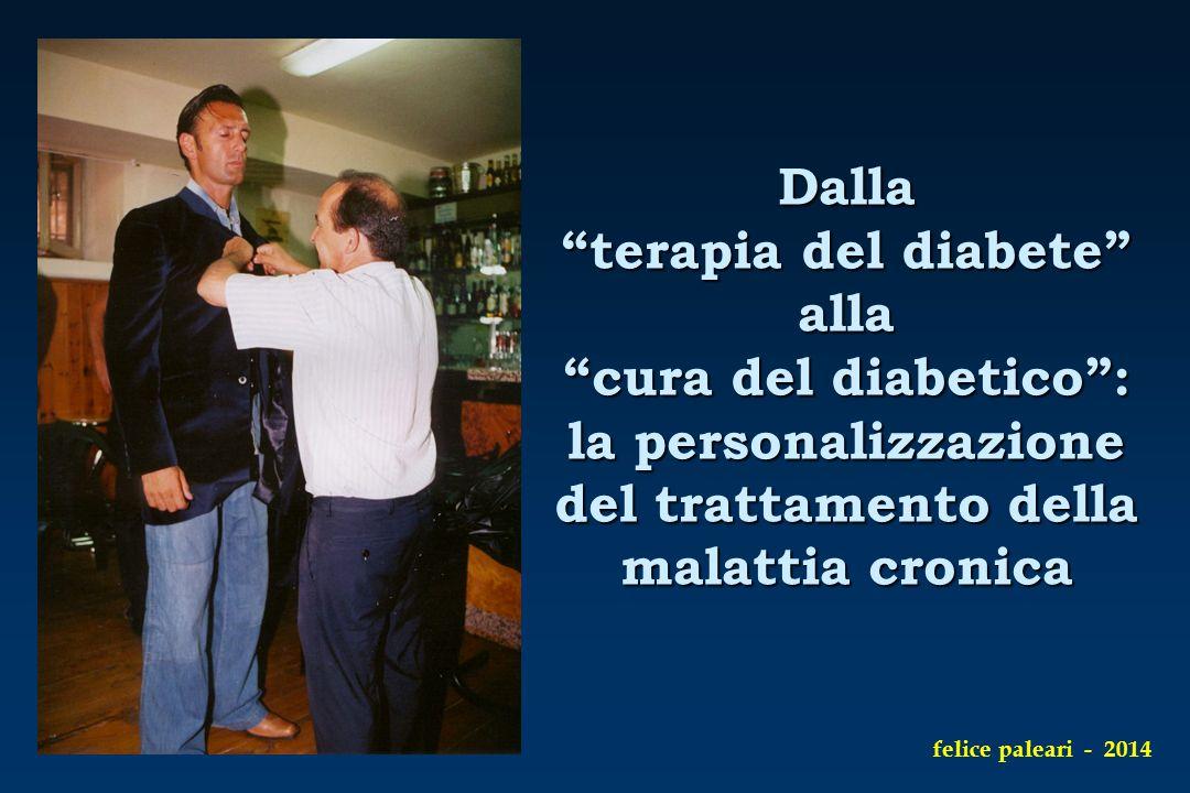 """Dalla """"terapia del diabete"""" alla """"cura del diabetico"""": la personalizzazione del trattamento della malattia cronica felice paleari - 2014"""