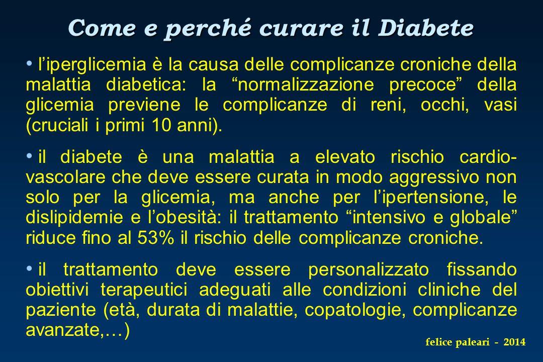 """l'iperglicemia è la causa delle complicanze croniche della malattia diabetica: la """"normalizzazione precoce"""" della glicemia previene le complicanze di"""