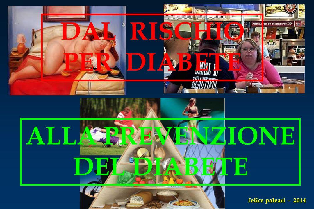 DAL RISCHIO PER DIABETE ALLA PREVENZIONE DEL DIABETE felice paleari - 2014