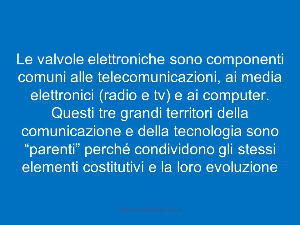 Le valvole elettroniche sono componenti comuni alle telecomunicazioni, ai media elettronici (radio e tv) e ai computer. Questi tre grandi territori de