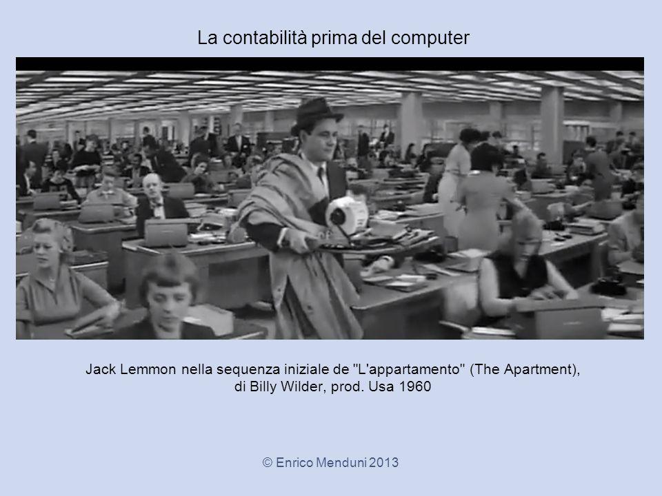 Jack Lemmon nella sequenza iniziale de L appartamento (The Apartment), di Billy Wilder, prod.