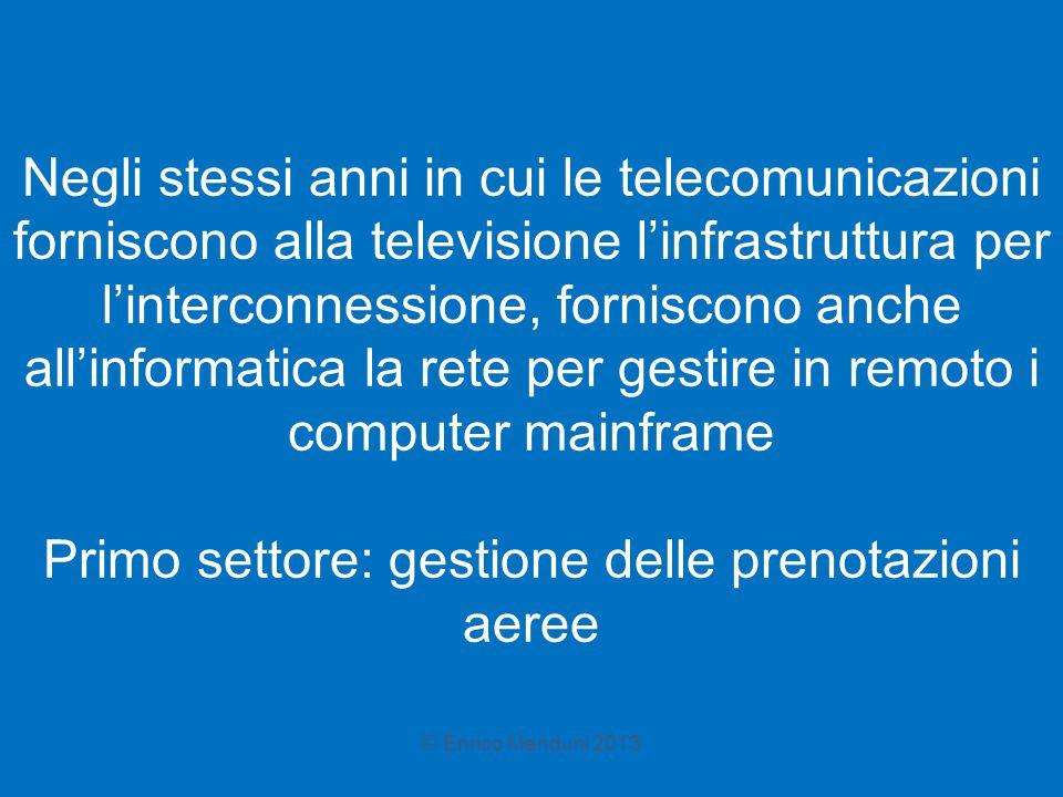 Negli stessi anni in cui le telecomunicazioni forniscono alla televisione l'infrastruttura per l'interconnessione, forniscono anche all'informatica la
