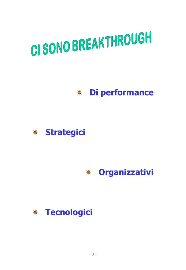 Di performance Strategici Organizzativi Tecnologici - 3 -