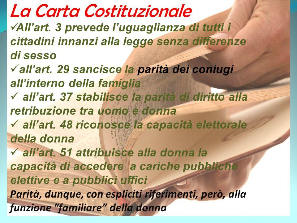 La Carta Costituzionale All'art.