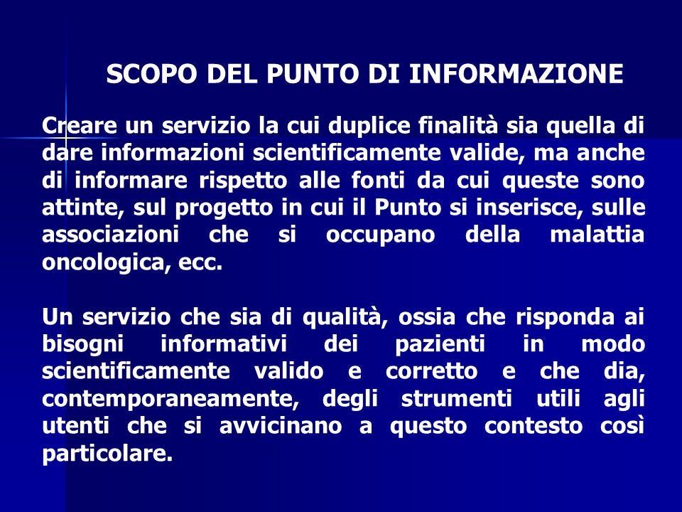 GENESI DEL PUNTO DI INFORMAZIONE DI NAPOLI La preparazione del Punto di Informazione ha avuto una gestazione abbastanza laboriosa.