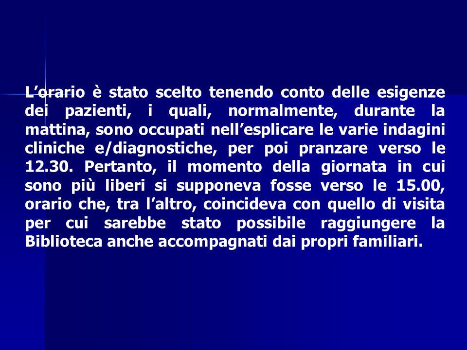 Il I° Marzo 2004, alle ore 15.00, il Punto di Informazione presso la Biblioteca della Fondazione Pascale è attivo!.