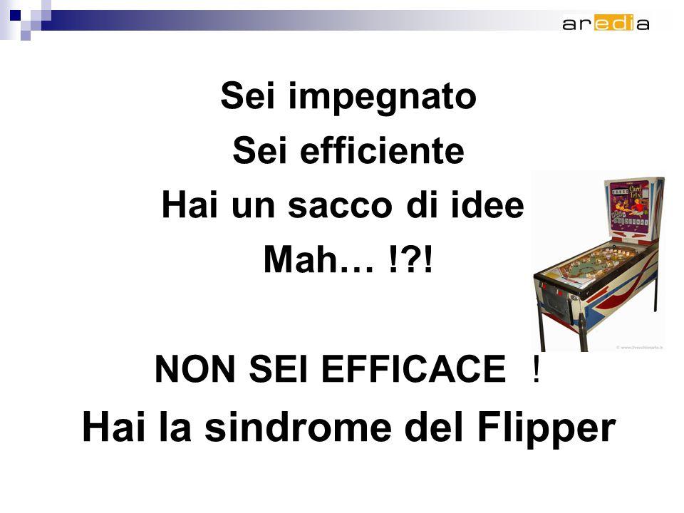 Sei impegnato Sei efficiente Hai un sacco di idee Mah… ! .