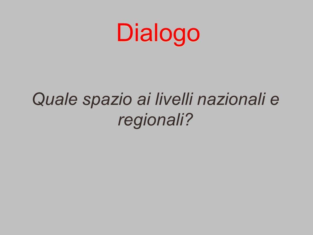 Dialogo Quale spazio ai livelli nazionali e regionali?