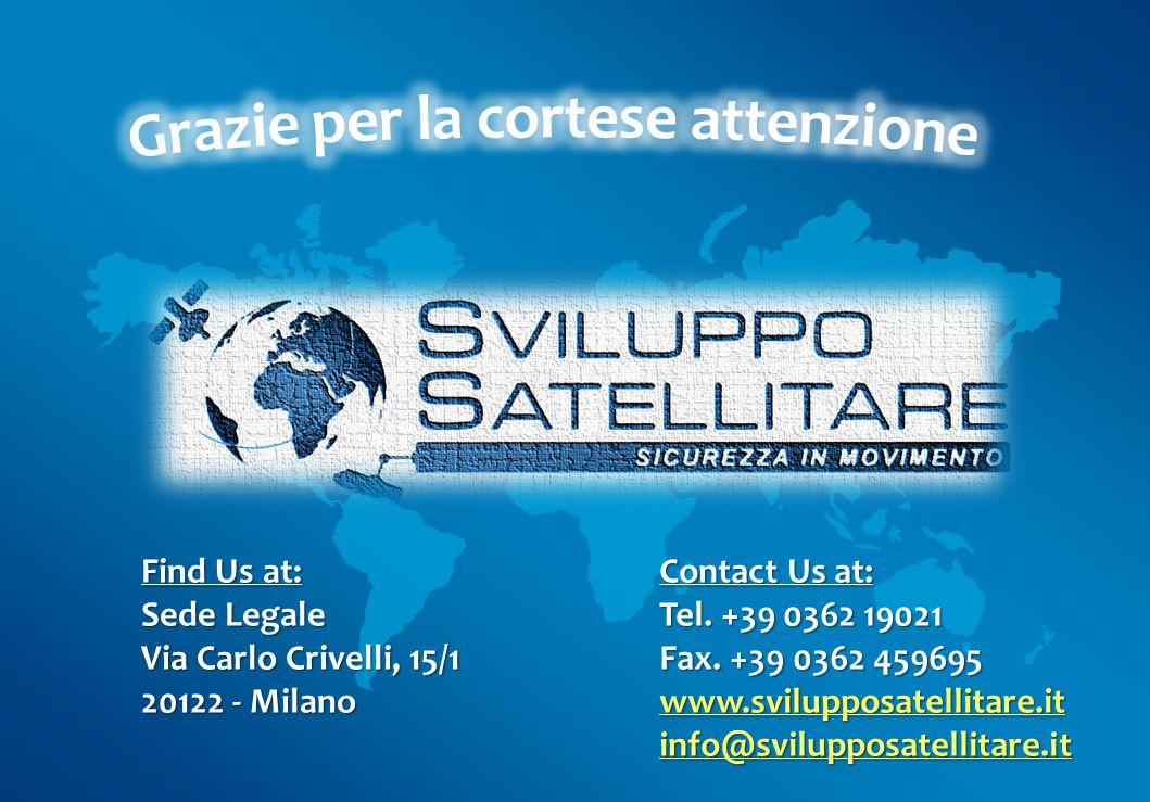 Contact Us at: Tel.+39 0362 19021 Fax.