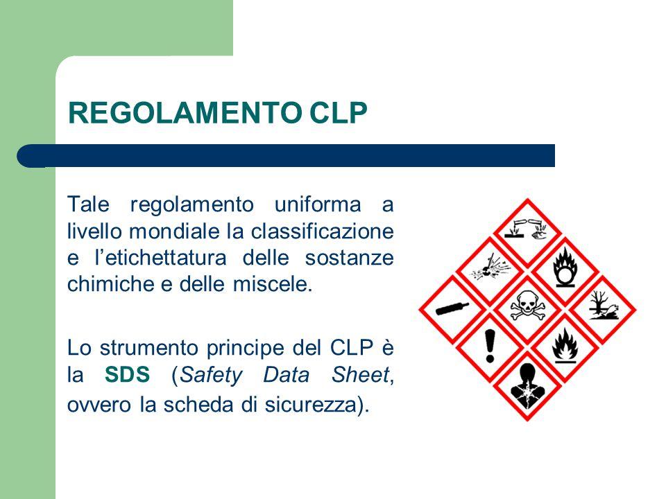 Tale regolamento uniforma a livello mondiale la classificazione e l'etichettatura delle sostanze chimiche e delle miscele.
