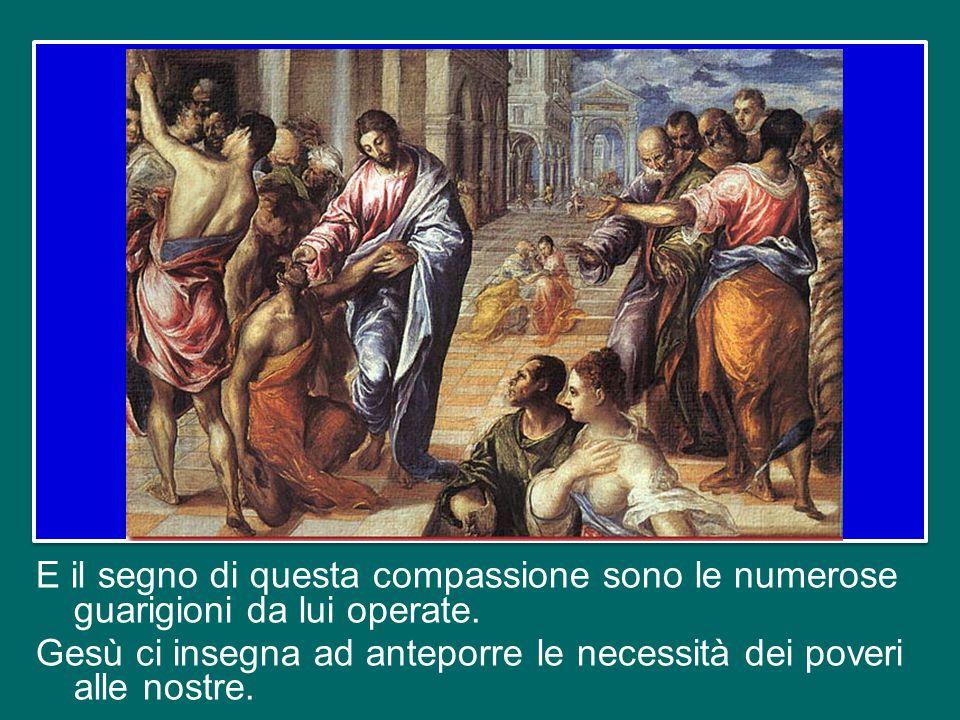 Ma stiamo attenti: compassione – quello che sente Gesù – non è semplicemente sentire pietà; è di più! Significa con-patire, cioè immedesimarsi nella s
