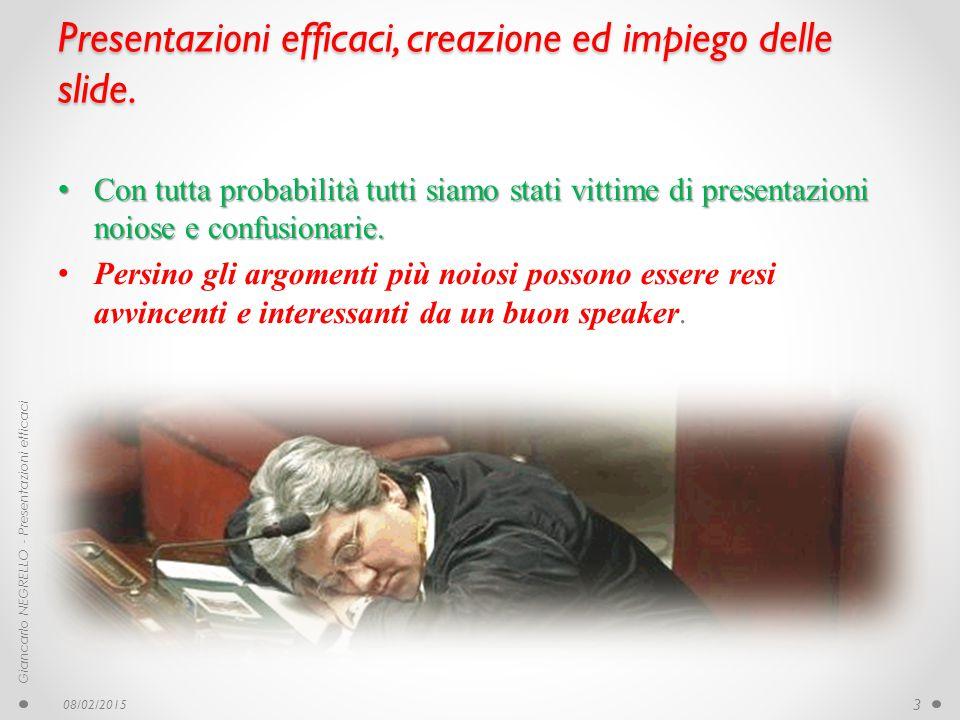 Slide Le slide non sono la presentazione, sono solo le illustrazioni L'uso delle immagini delle slide ha un grande potere Le slide non sono la presentazione, sono solo le illustrazioni.