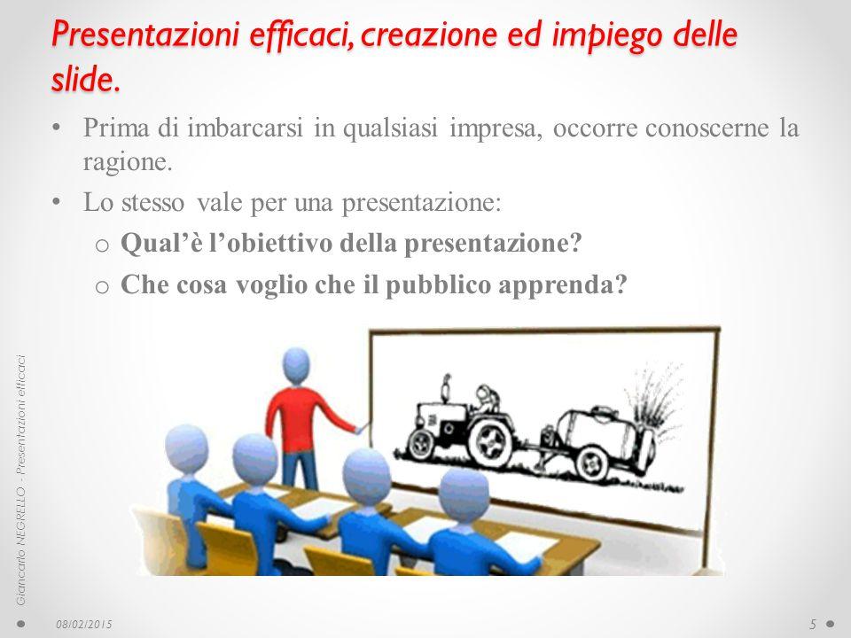 Presentazioni efficaci, creazione ed impiego delle slide. Prima di imbarcarsi in qualsiasi impresa, occorre conoscerne la ragione. Lo stesso vale per