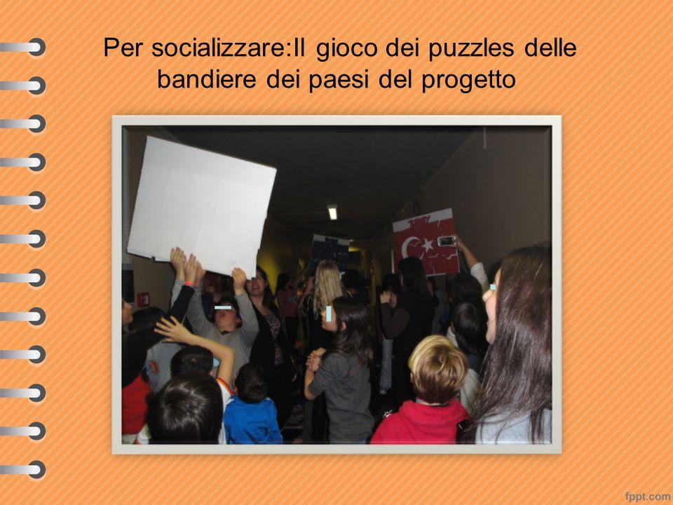 Per socializzare:Il gioco dei puzzles delle bandiere dei paesi del progetto