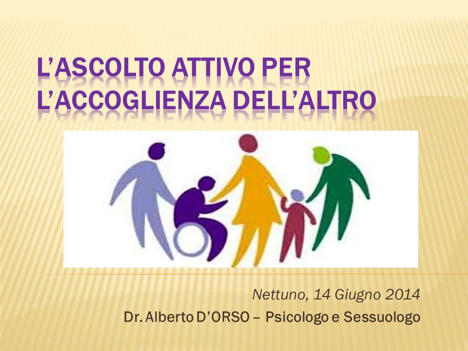 Nettuno, 14 Giugno 2014 Dr. Alberto D'ORSO – Psicologo e Sessuologo
