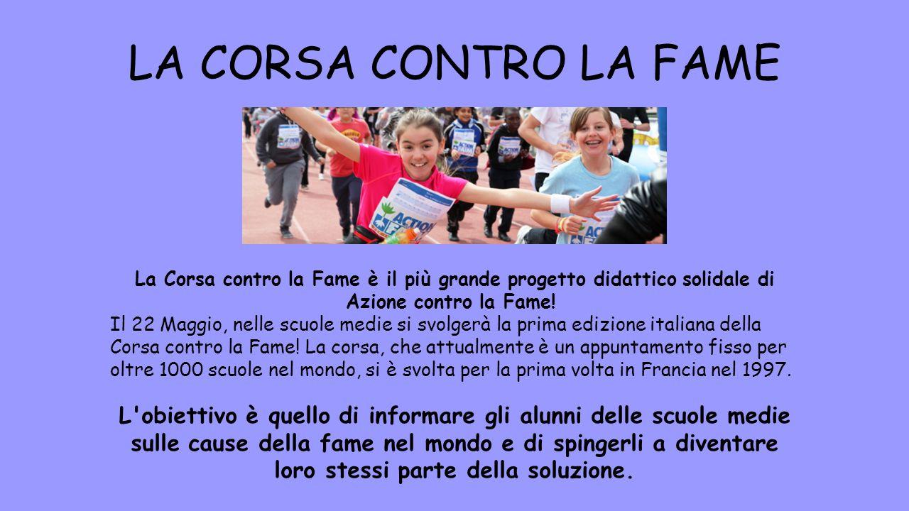 La Corsa contro la Fame è il più grande progetto didattico solidale di Azione contro la Fame! Il 22 Maggio, nelle scuole medie si svolgerà la prima ed