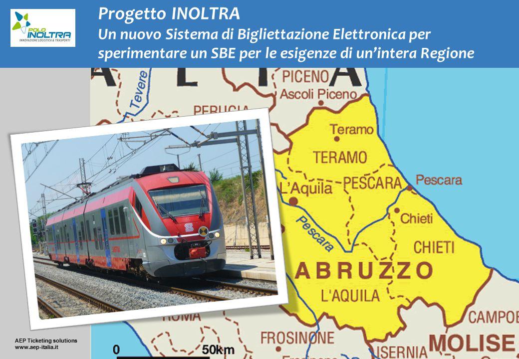AEP Ticketing solutions www.aep-italia.it Progetto INOLTRA Un nuovo Sistema di Bigliettazione Elettronica per sperimentare un SBE per le esigenze di u