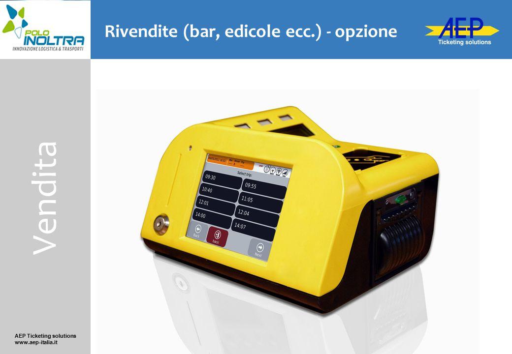 AEP Ticketing solutions www.aep-italia.it Rivendite (bar, edicole ecc.) - opzione Vendita