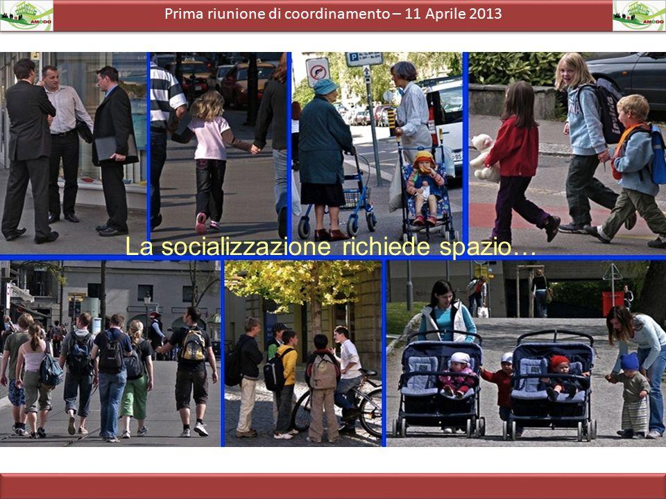Prima riunione di coordinamento – 11 Aprile 2013 La socializzazione richiede spazio…