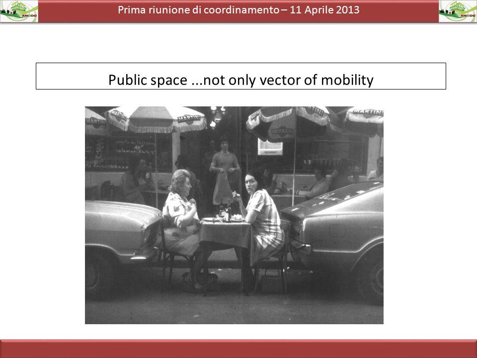 Prima riunione di coordinamento – 11 Aprile 2013  MOBILITA' PEDONALE  MOBILITA' BAMBINI ED ANZIANI  MOBILITA' DONNE  MOBILITA' PERSONE CON DISABILITA'  TRAFFIC CALMING TEMATICHE
