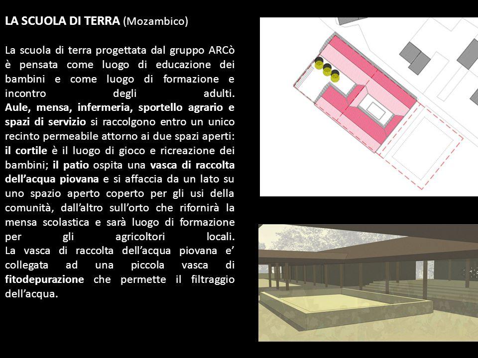 LA SCUOLA DI TERRA (Mozambico) La scuola di terra progettata dal gruppo ARCò è pensata come luogo di educazione dei bambini e come luogo di formazione