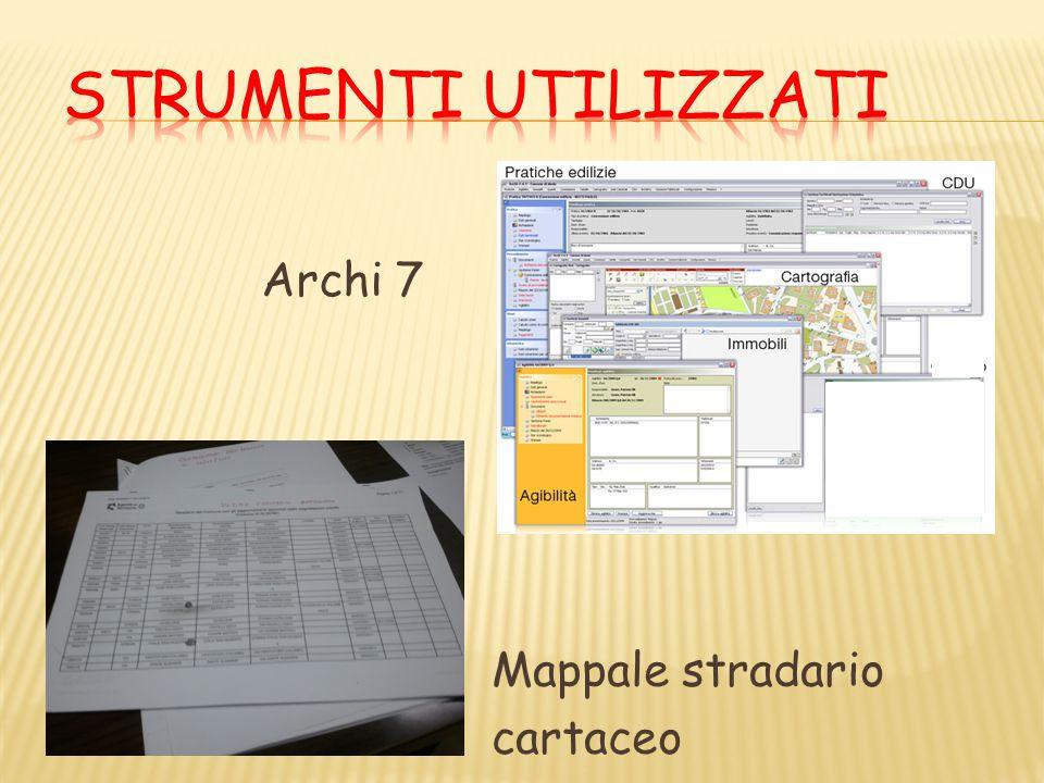 Archi 7 Mappale stradario cartaceo